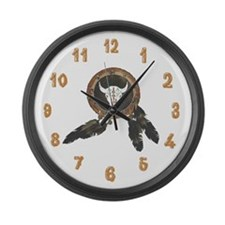American Indian Shields Large Wall Clock