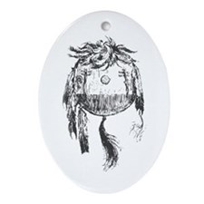 American Indian Shields Oval Ornament