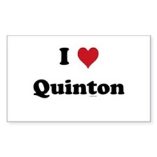 I love Quinton Rectangle Decal