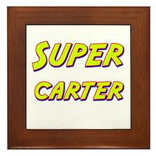 Super carter Framed Tile