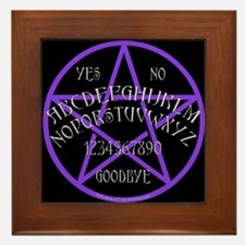 Purple Pentagram Board Framed Tile
