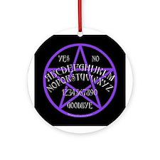 Purple Pentagram Board Keepsake (Round)