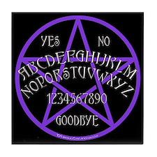 Purple Pentagram Board Tile Coaster