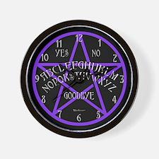 Purple Pentagram Board Wall Clock