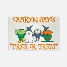 Camryn Says Trick or Treat Rectangle Magnet