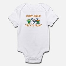 Camryn Says Trick or Treat Infant Bodysuit