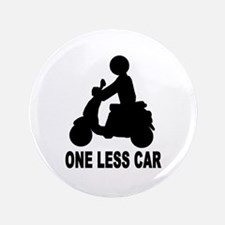 """One less car motor scooter 3.5"""" Button"""