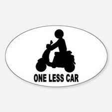 One less car motor scooter Oval Decal