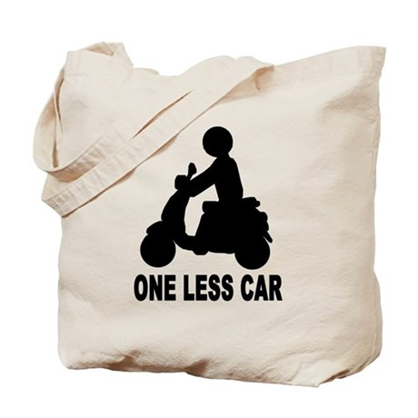 One less car motor scooter Tote Bag