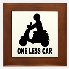 One less car motor scooter Framed Tile