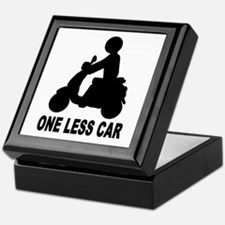 One less car motor scooter Keepsake Box