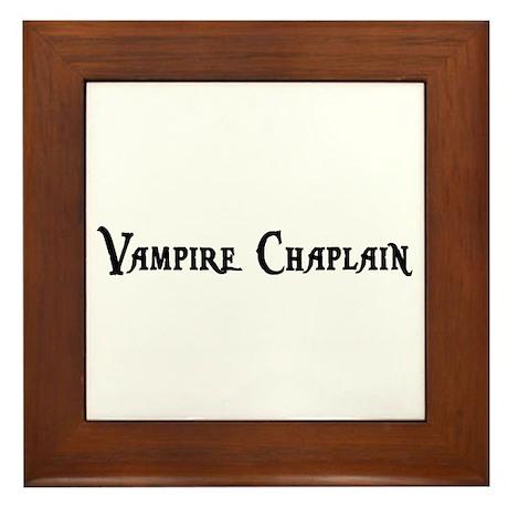 Vampire Chaplain Framed Tile