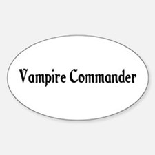 Vampire Commander Oval Decal