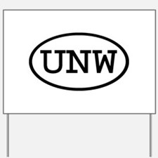UNW Oval Yard Sign