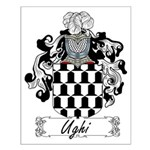 Ughi Family Crest Small Poster