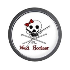 The Mad Hooker Wall Clock