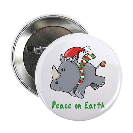 "Peace Rhino 2.25"" Button (10 pack)"