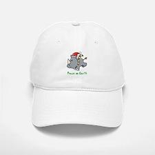 Peace Rhino Baseball Baseball Cap