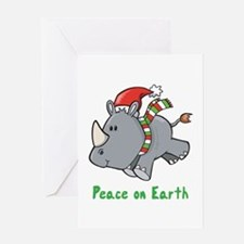 Peace Rhino Greeting Card