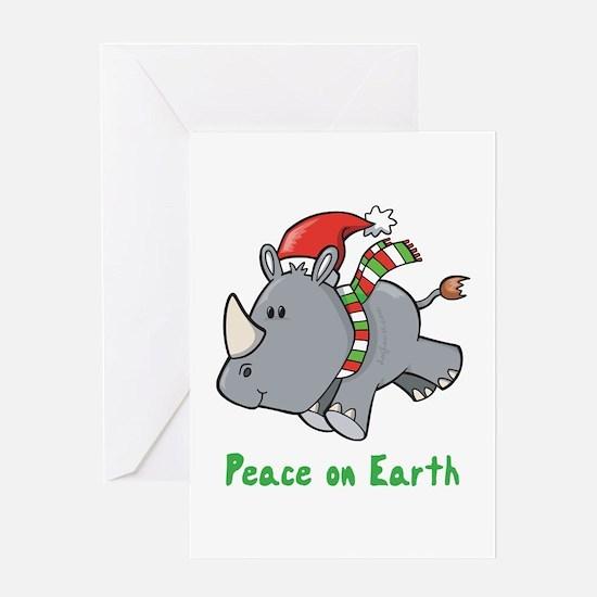 Peace Rhino Greeting Card