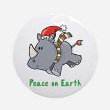 Peace Rhino Ornament (Round)