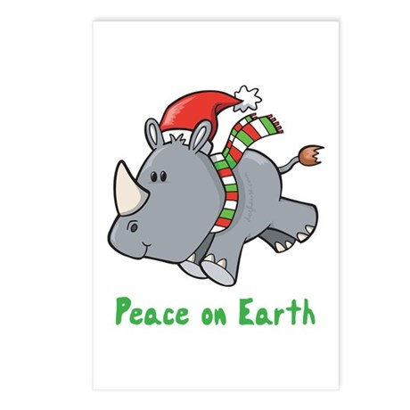 Peace Rhino Postcards (Package of 8)