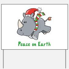Peace Rhino Yard Sign