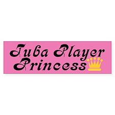 Tuba Princess Bumper Sticker