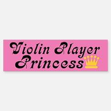 Violin Princess Bumper Car Car Sticker