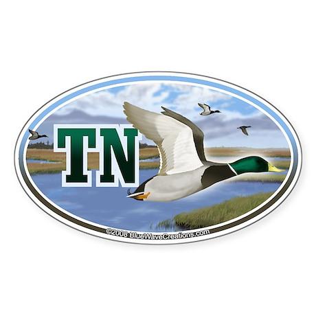 TN Tennessee Mallard Ducks oval car bumper sticker