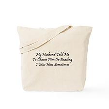 Husband Or Beads Tote Bag