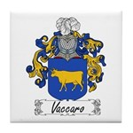 Vaccaro Family Crest Tile Coaster