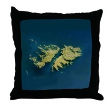 Unique Falkland islands Throw Pillow