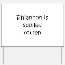 Cute Rhiannon Yard Sign