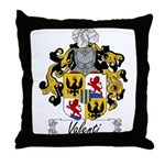 Valenti Family Crest Throw Pillow