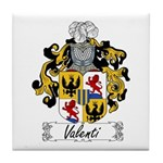 Valenti Family Crest Tile Coaster