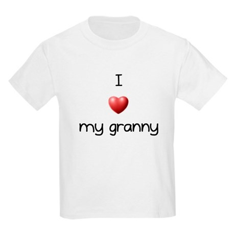 I Love my Granny Kids Light T-Shirt