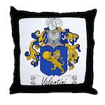 Valentini Family Crest Throw Pillow