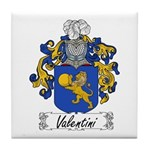 Valentini Family Crest Tile Coaster
