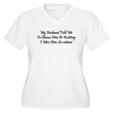 Husband Or Knitting T-Shirt