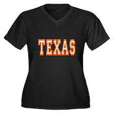 Unique Sports Women's Plus Size V-Neck Dark T-Shirt