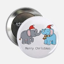 """Elephant Christmas 2.25"""" Button (10 pack)"""