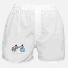 Elephant Christmas Boxer Shorts
