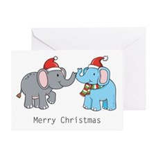 Elephant Christmas Greeting Card
