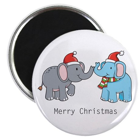Elephant Christmas Magnet