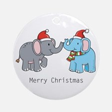 Elephant Christmas Ornament (Round)