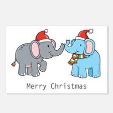 Elephant Christmas Postcards (Package of 8)