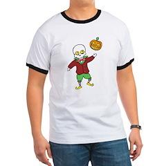 Skeleton and Pumpkin T