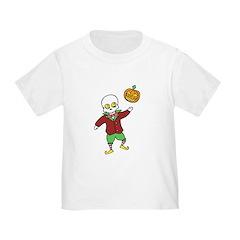 Skeleton and Pumpkin Toddler T-Shirt