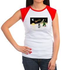 Night Flight/Catahoula Women's Cap Sleeve T-Shirt